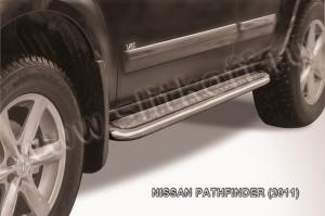 NISSAN PATHFINDER (2011)-Пороги d57 с листом